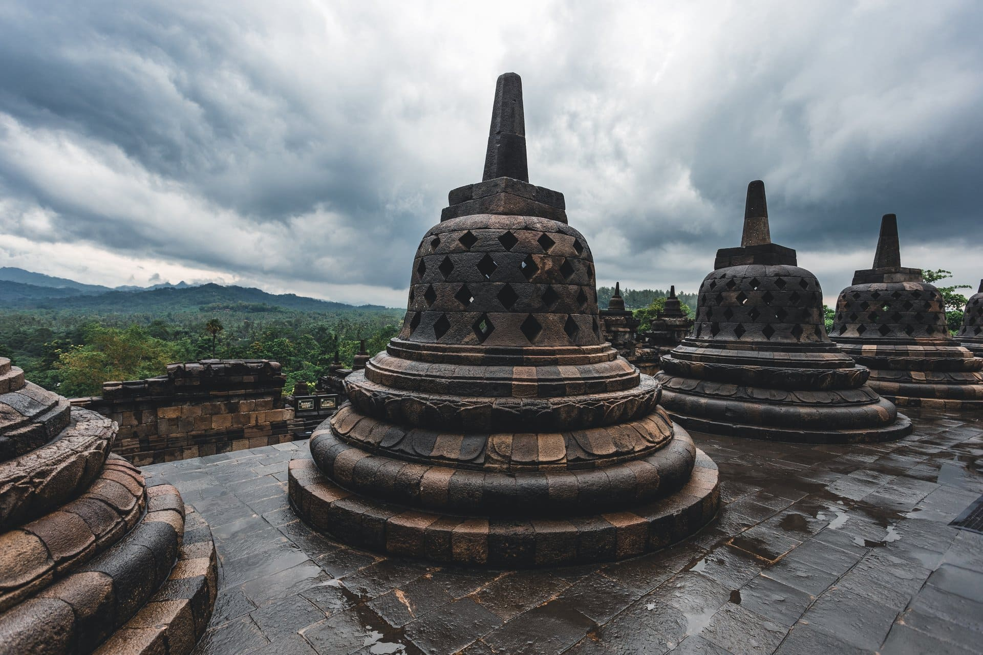 If you were in Indonesia, what would you go to Borobudur to see?